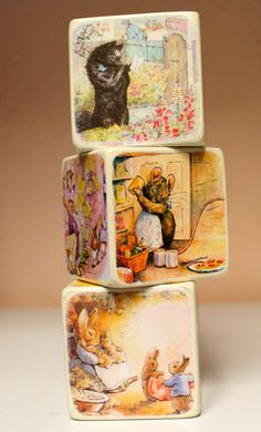 Beatrix Potter Blocks by ChickenDoodles on Etsy, $15.00