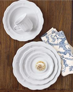 Pillivuyt Queen Anne Porcelain Dinnerware Collection #williamssonoma
