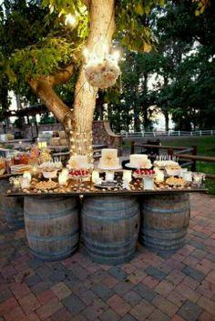 barrel cocktail tables