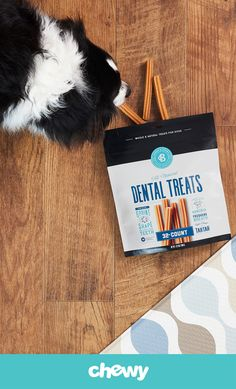 Treat your dog to a tasty and fresh breath all-in-one, with Bones & Chews Dental Sticks. Made with all-natural chicken flavor, this two-in-one treat helps clean teeth and freshen breath, all while satisfying the canine instinct to chew. Its chewy texture helps scrub off plaque and tartar, while your pup stays busy chewing away. These easily digestible treats don't contain added sugar or artificial colors, flavors or preservatives, so you can feel good about using them as your go-to dental…