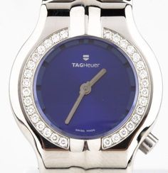 Ladies Tag Heuer Alter Ego Stainless Steel Quartz Watch Diamond Bezel WP1415  #TAGHeuer #Dress
