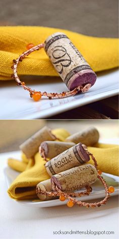 Easy Cork Napkin Rings | Easy DIY Wine Cork Project by DIY Ready at http://diyready.com/more-wine-cork-crafts-ideas/
