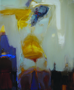 Iryna Yermolova. Title: Red Ribbon Medium: oil on canvas Size: 100 x 80cm