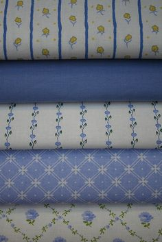 Vintage Laura Ashley Fabrics in Sapphire Blue! by janeych, via Flickr