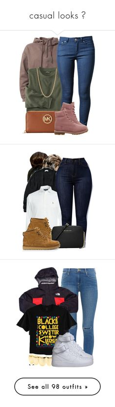 """casual looks ✨"" by classycam ❤ liked on Polyvore featuring Michael Kors, Acne Studios, Timberland, Givenchy, Abercrombie & Fitch, Ralph Lauren, UGG Australia, MICHAEL Michael Kors, Frame Denim and The North Face"