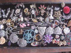 Vintage Costume Rhinestone Jewelry Lot Craft Repair Steampunk FREE SHIP