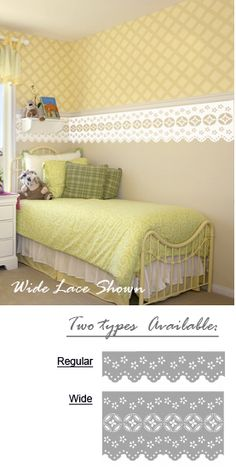 Lace border wall decals stickers.  These look fantastic <3