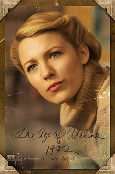 """Blake Lively looks beautiful in every decade on these """"Age of Adaline"""" movie posters"""