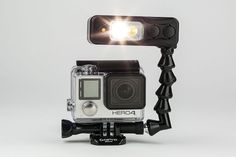 In low light or back-lit scenes, the GoPro is not a top performer, but Sidekick makes up for these shortcomings. A lightweight and powerful GoPro light, Sidekick mounts on to the camera, flashing a wide flood beam to greatly enhance the quality of your images in low light.