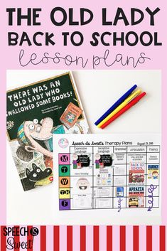 Back to School lesson plans for speech-language therapy! These activities can also be used year round too! These plans include resources for articulation, language, grammar, and fluency/stuttering.