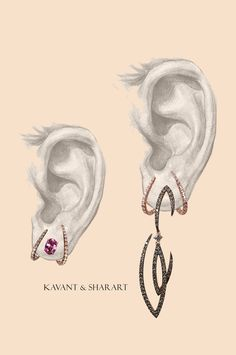 Jewelry OFF! Day to night Earrings by Kavant & Sharart Fine Jewelry Cute Jewelry, Jewelry Art, Jewelry Gifts, Snake Jewelry, Silver Jewelry, Fashion Jewelry, Jewellery Sketches, Jewelry Drawing, Jewelry Illustration