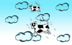 El día que las vacas vuelen