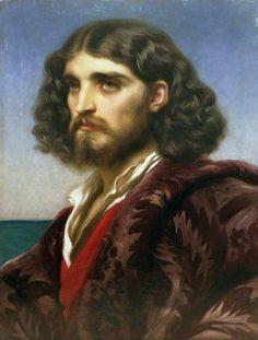 """An Italian Man"" (1864) → Frederic Leighton"