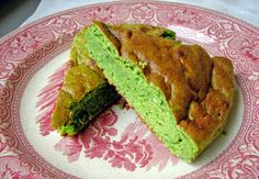 Spinach mozzarella cake