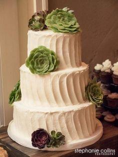 Succulents Wedding Cake - MJB Cakes
