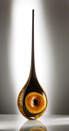 Tim Boswell, Africa,  Blown and fused glass, 100cm tall, £2500, Photo: S. Bruntnell