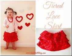 Make a sweet tiered lace skirt for your little lady using this simple sewing tutorial.