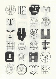 Bruno Munari: Drawings of Faces – Multiple Identities of a Face Cute Drawings, Drawing Sketches, Journal D'art, Illustrations, Illustration Art, Arte Popular, Pictogram, Figurative Art, Graphic Design