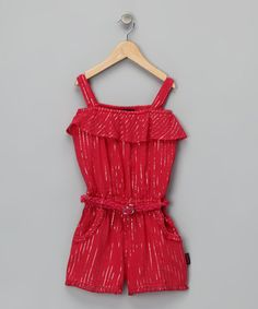 Coral Ruffle Romper by Dollhouse on #zulily today! $9.99
