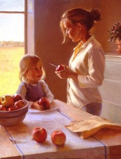 autumn appleslarge - Paintings by Jeffrey T Larson