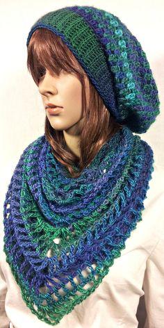 Shamdana Shawl And Hat Set By Tina Lynn Creations - Free Crochet Pattern - (ravelry)