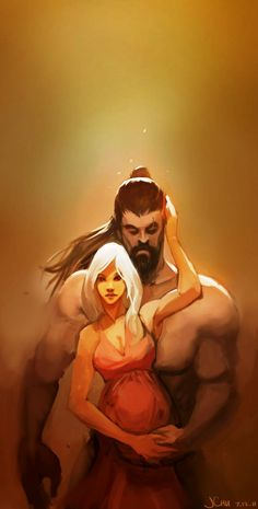 "Daenerys and Khal Drogo ""Look how fierce she grows!"""