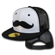black and white moustache snapback - Google Search