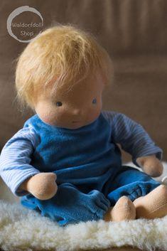 """15"""" Baby Waldorf Doll by Waldorfdollshop   15"""" Baby Waldorf Doll , Natural fibre art doll created using natural fibres."""