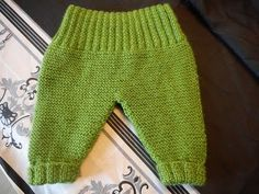 tuto tricot pantalon bébé parti 1 - YouTube