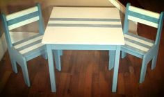 Kids Table and Chairs - Built by Alex at Good Wood in Grantville, GA. Like us on Facebook: https://www.facebook.com/GrantvilleGoodWood