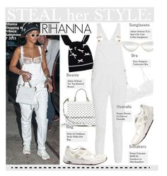 """Steal Her Style-Rihanna"" by kusja ❤ liked on Polyvore featuring Adam Selman, Dolce&Gabbana, Eres, Frame Denim, Stealherstyle, Rihanna and celebstyle"