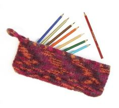 Felted Pencil Case -Free Knitting Pattern: Easy Skill Level 2