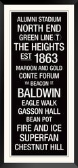Purchase Pic: Boston College: College Town Wall Art