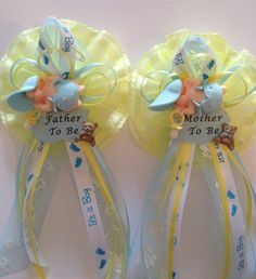 Mother & Father to Be Baby Shower Corsage