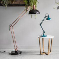 Kings Road 170cm Swing Arm Floor Lamp
