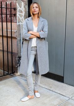 all grey everything outfit