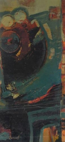 Shanty Crane,abstract oil painting by Nancy Bossert