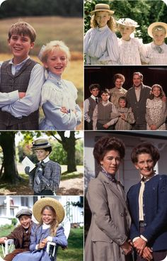 Road to Avonlea. Left to right, top to bottom: Andrew King and Sara Stanley, Felicity King, Sara Stanley and Cecily King, Andew, Felix, Janet, Cecily, Alec and Felicity King, Hetty King, Olivia King-Dale, Hetty King, Davy and Dora Keith.