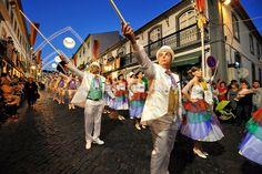 Parade of São João Day. Angra do Heroísmo. Terceira, Azores islands, Portugal