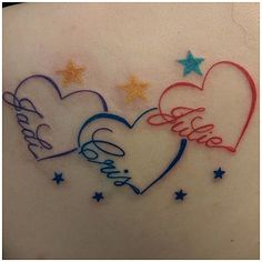The 25 best Tattoos with kids names ideas on Infinity name tattoo, Infinity tattoo with names and Kid name tattoos, click now. Heart Tattoo Images, Heart Tattoos With Names, Little Heart Tattoos, Name Tattoos For Moms, Tattoos For Kids, Tattoos For Daughters, Tattoo Kids Names, Tattoos For Childrens Names, Butterfly Tattoos With Names