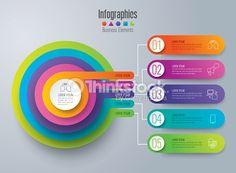 Vector Art : Infographic design vector and business icons. Infographic Templates, Infographics Design, Circle Diagram, Organizational Chart, Business Icon, Free Vector Art, Lorem Ipsum, Design Elements, Presentation
