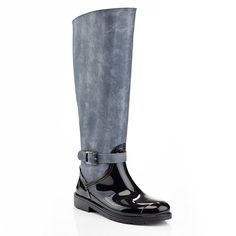 Extreme by Eddie Marc Women's Knee High Denim Buckle Side Zip Riding Winter Rain Boots >>> You can get more details by clicking on the image.
