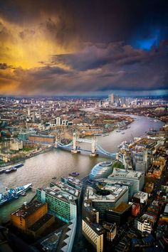 Photo: Storm Clouds Over London – Stunning Shot from the View from the Shard.  photo by  Les Kancir
