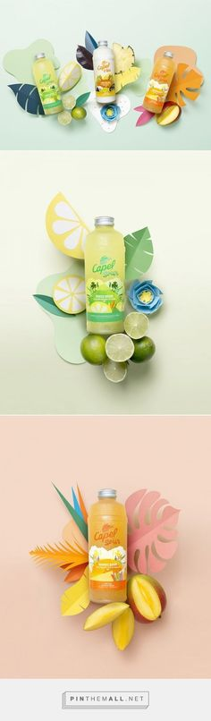 Product photo ideas | Drinks | Capel Sour juices by Estudio Cielo. Source: Daily Package Design Inspiration.