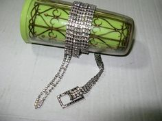 Gorgeous Vintage Rhinestone Belt White by TheInstantMemory on Etsy