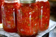 canned stewed tomatoes 4 qt peeled, chopped tomatoes 1 c. onion, chopped 1 c. green pepper, chopped 1 c. celery, chopped 1 T sugar 2 t salt Canning Pickles, Canning Tips, Home Canning, Canning Recipes, Canning Soup, Canning Salsa, Canning Stewed Tomatoes, Canning Vegetables, Canning Food Preservation