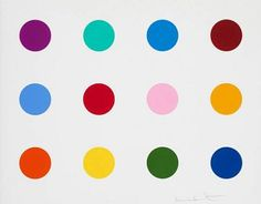 damien hirst spot paintings | Damien Hirst colored spot painting