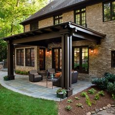 30 Patio Design Ideas For Your Backyard   Okay, I Donu0027t Know What The Front  Of The House Looks Like But I Love This Back View! The Classic Line Of The  Home ...