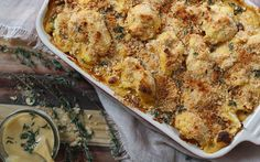 It's creamy, cheesy, savory, and ooey gooey. This Cheesy Cauliflower bake is a winning recipe that's destined to please all.