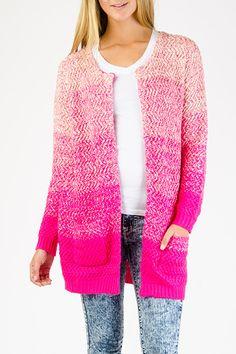 Stripe Ombre Knit Cardigan $24.99